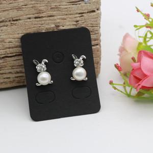50pcs 3.8x4.8cm Earring Display Card Earring Card Holder Blank Kraft Paper Tags For Diy Ear Studs Long Drop Jewelry Display Card Q sqcfKu