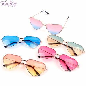 Fengrise Shape Dekorationen Mode Pool Thema Party Hawaiianische Sonnenbrille Neue Frauen Herz Plastikgläser Sommer DWMJG