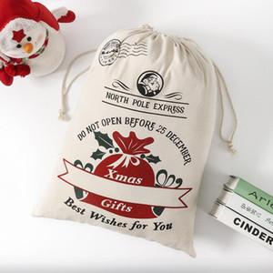 Christmas Gift Bags Cotton Canvas Bag Santa Sacks Monogrammable Santa Sack Drawstring Bag Christmas Decorations Santa Claus Deer DWC4191