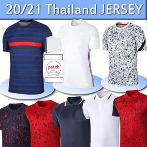 2020 FRA MBAPPE NCE GRIEZMANN POGBA JERSERYS 2021 Camisas de futebol de futebol Camisetas Maillot de Foot Men + Kids Kit