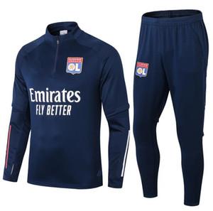 2020 2021 Olympique Lyonnais Lyon Tacksuit Men Fútbol Traje de entrenamiento 20 21 Maillot de Foot Memphis Ol Lyon Football Truco Jogging