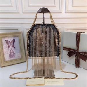 Hot vente nouveau sac à bandoulière pompon double face sac messager large chaîne étoile même haute texture sac de dame lumière sac à main de femmes