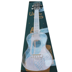 funny good quality 23 inch transparent ukulele free shipping