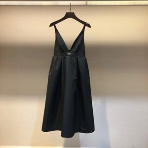 120 2021 платье взлетно-посадочной полосы весенние летние платья бренда та же стиль Empire Spaghetti ремешок V шеи женские платья мода высокое качество ниши