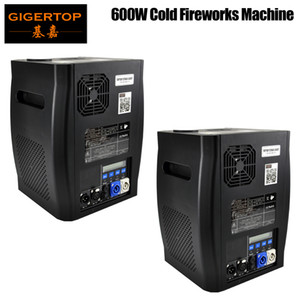 Gigertop 2 Units Sparkular 2-5M DMX 512 Fountain Stage Cold Spark Machine Fireworks LCD Display Power IN OUT Socket
