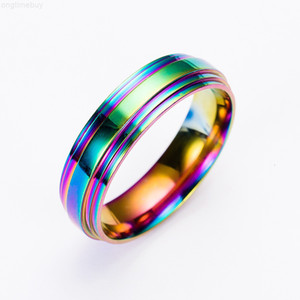 Ring Stainless Steel Rainbow Ring Wedding Band Rings Women Mens rings Fashion Jewelry will and sandy Gift