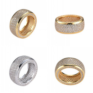 Hip Hop Stainless Steel Cubic Zirconia Rings Iced Out High Quality Micro Pave Diamond Rings Women Men Finger Ring Bling Bling Jewelry 335 N2