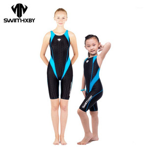Wholesale- HXBY Racing Swimwear Women One Piece Swimsuit For Girls Competitive Swimming Suit For Women Bathing Suits Women's Swimsuits Kids1