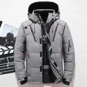 2020 New Winter Trend Fashion Jacket Men Casual White Duck Down Warm Hooded Coats Mens Outwear Windbreaker Thicken Parkas 4XL
