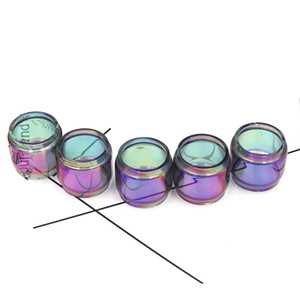 Extended Pyrex Glass Tube Rainbow Color Fat Boy Tubes TFV12 PRINCE iJust ECM Replacement Sleeve DHL Free