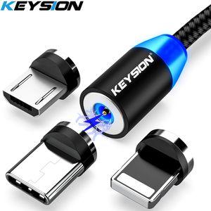 USB cable de carga rápida magnética Tipo C Imán de datos del cargador USB Cable de carga Micro USB cable de teléfono móvil cable de
