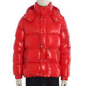 Moda Homens Parka Alta Qualidade Homens Mulheres Jaqueta de Inverno Hip Hop Mens Inverno Casacos Down Jacket Black Vermelho Windbreaker Vermelho Outerwear