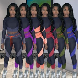 Designers Women Tracksuit Matching Printed Long Sleeve Tops Shirts +Leggings Pants Two Piece Suit Clothing Casual Sport Outfits S-2XL F92906