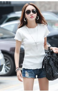 Ms white T-shirt with short sleeves round collar render unlined upper garment A1112