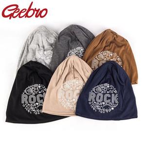 Casquillo ocasional del capo Geebro el otoño del resorte del sombrero para las mujeres Casual Moda Unisex turbante color sólido skullies Gorros invierno de los hombres suave