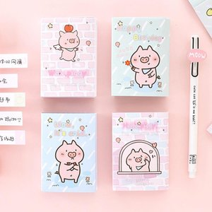 Hello Little Pig 6 Folding Memo Pad N Times Sticky Notes Memo Notepad Bookmark School Office Supplies Papelaria wmtuLM pthome