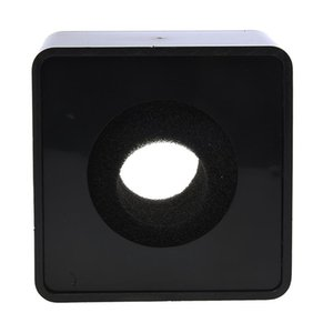 1pc Black ABS Mic mini phone Interview Square Square Logo Flag Station