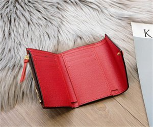 PORTEFEUILLE CLEMENCE CARTERA alta calidad para mujer icónica largas de la moda Monedero caso de la tarjeta monedero Titular Brown impermeable de lona blanca M60742