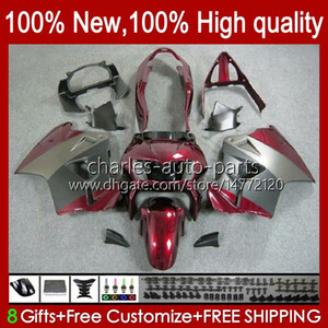 Bodys for Honda VFR 800RR 800 RR VFR800RR Interceptor 1998 1999 00 01 99HC.162 أحمر رمادي NEW VFR800R VFR800 98 99 2000 2001 ABS Fairing Kit