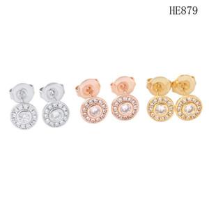 Pendientes de diseño de joyería de moda Pendientes de acero inoxidable Pendientes de oro Oro Plata Earings Mini Diamond Pendientes Joyería al por mayor
