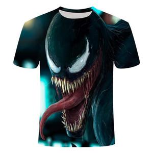 2019 Nuevo Venom 3D Impreso T Shirts Hombres Camisa Casual Camisa de manga corta Fitness Tops Masculino Tops Peso Levantamiento Base Layer Tamaño Asiático Sqczoz