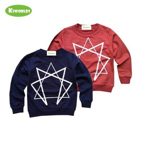 Spring Autumn Hot Sale Cotton Long Sleeve Boys and Girls T-Shirt ,with Split joint White squareness and Letter ,Warm CLothes 1006