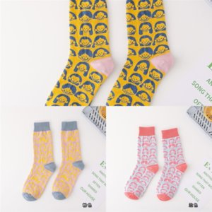 4Cq Cotton hunter Japanese sock men ladies boot cartoon art socks cute lazy pattern combed cotton personality fashion novelty crew Autumn