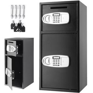 Superland Large Double Door безопасности Box депозитарный Safe Steel Сейф Цифровой сейф депозитарием Деньги Gun Ювелирные изделия