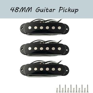 NAOMI 3Pcs 48mm Single-coil Guitar Pickup Neck Middle Bridge Electric Guitar Single-coil Pickup