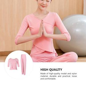 1 Satz loses Yoga Outfits Trainings-Eignung T-Shirt Hosen Halbarm Kleidung