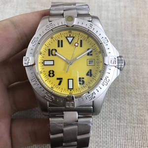 Hohe Qualität Uhren Männer Avenger Serie 1884 Uhr Gelb Dial Seawolf Automatische mechanische Bewegung Edelstahl Herren Armbanduhren