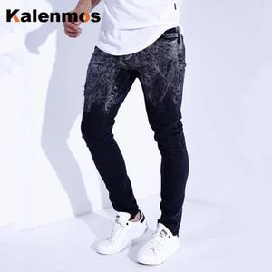 Jeans Hommes Boyfriend Solid Spring Automne Skinny Jean Hip Hop Goth Vêtements Punk Plus Taille Pantalon Denim Pantalon Crayon Streetwear