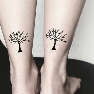 Waterproof Temporary Tattoo Stickers Withered Tree Bole Tattoo Small Size Tatto Flash Tatoo Fake Tattoos For Man Girl Women mHEy#