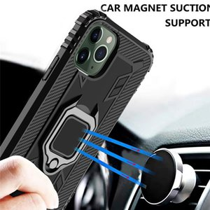 New Armor Shockproof Phone Case for iPhone 11Pro Max Ring Car Holder Back Cover for iPhone 12 mini 8 Plus SE 2020