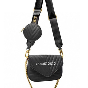 2020 Venta caliente Nuevo estilo Multi Pochette New Wave Bolsos Crossbody Bolsas de Calafskin Moda Mensajero Messenger Bags Desger Pochette Bolse