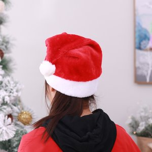 Holiday Hat for Adults Christmas Hat Santa Hat Unisex Velvet Comfort Christmas Hats New Year Festive Holiday Party Supplies S1102