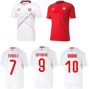 2020 2021 camisetas de fútbol Suiza 20 21 Suiza Akanji Zakaria Rodríguez ELVEDI del equipo nacional de fútbol camisas de distancia del juego de niños