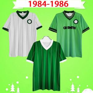 Селтик 1984 1985 1986 ретро футбольные майки 84 85 86 Винтажная футбольная футболка МакИналли Джонстон МакЛауд архидиакон Эйткен дома зеленый на выезде белый