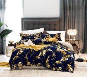 Promoção egípcio longo descontínuas algodão conjunto de cama de luxo Bed Set Rainha Rei Sheet Size Mix e padrão capa de edredão