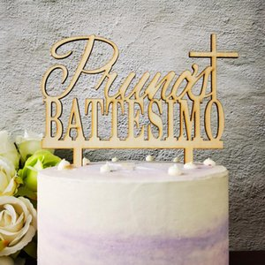 Personalized name Cake Topper,Custom Name Of Italy Battesimo And Cross cake topper,Battesimo Gift, Baby Shower Supplies