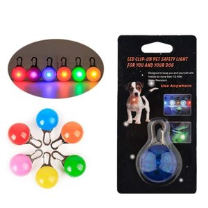 Pet Led Light Dog Cat Waterproof Dog Illuminated Collar Safety Night Walking Lights ID Tags Pet Dog Pendants Flashing Led Collar