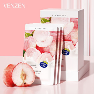 VENZEN Peach Sleep Face Mask Cream Shrink Pore Brushing Facial Mask Moisturizing Mask Cream Face Skin Care