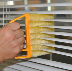 Useful Microfiber Window Cleaning Brush Air Conditioner Duster Mini Shutter Cleaner Washable Cleaning Cloth Brush Jxw595