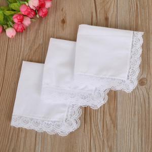100% algodón blanco Handkerchief Mesa masculina Hankerchief Sweat-Absorbent Toalla DIY Graffiti Pañuelo para el bebé adulto DHA2095