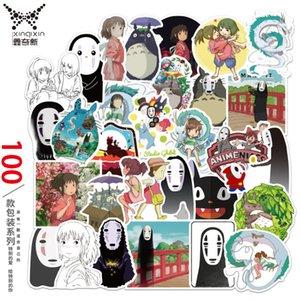 100 قطعة من hayao miyazaki الكرتون كتابات ملصقات الأمتعة الثلاجة الكهربائية غيتار pvc ملصقات السيارات للماء W6IF