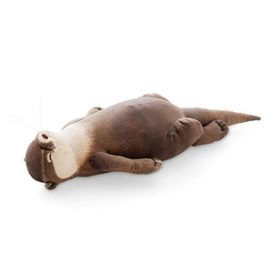 Japanese Creative Raised Otter Simulation Animal Plush Toy Pencil Bag Case Storage Bag Cool Wristband Gift 201212