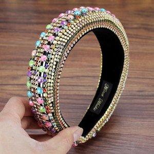 Big Luxury Full Crystal Tiara Hairbands Gorgeous Bohemian Rhinestone Fandbands per nuove donne Copricapo Accessori per capelli da sposa