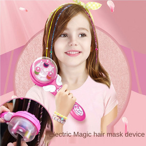 Fille électrique magique Braid Faire semblant de jouer avec des jouets pour enfants Cadeaux Magie bricolage Coiffure Princesse coiffure Jouets