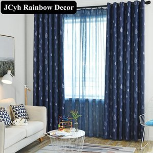 85% Modern Blackout Window Curtains For Living Room Home Decoration Bedroom Curtains For Window Treatment Blinds Fabric Cortina1