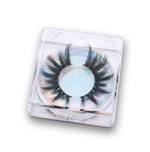 Whosale Hot Selling 25Mm Fluffy Reusable Silk Eyelash 5D Vegan Mink Empty Eyelash Vendor Packaging Box